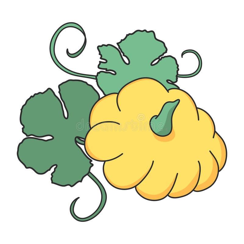 Vektor för illustration för liten pastejpannagrönsaker arkivfoton
