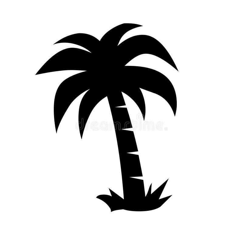 Vektor för illustration för palmträdsymbolslogo royaltyfri illustrationer