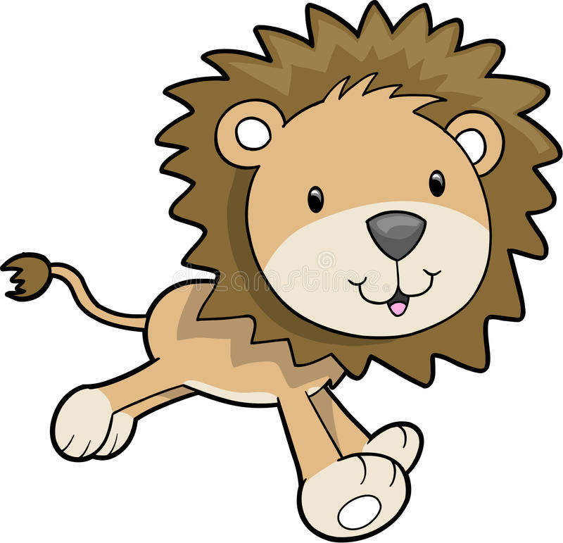 vektor för illustrationlionsafari royaltyfri illustrationer