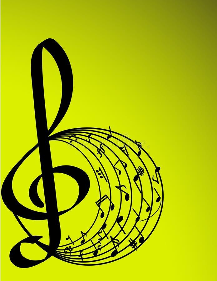 vektor för illustrationmusiktema royaltyfri illustrationer