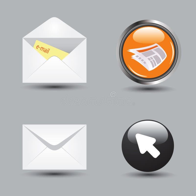 vektor för internet för applikationeps-symbol set royaltyfri illustrationer