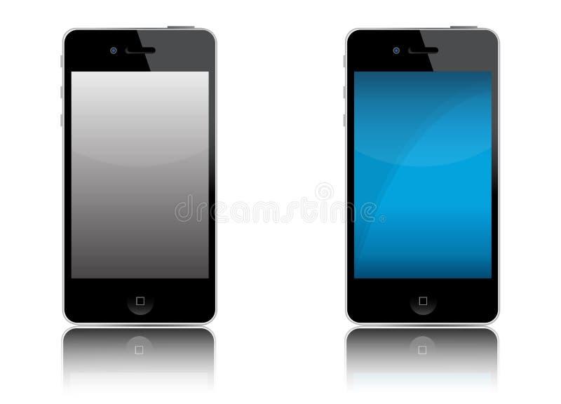 vektor för iphone för 4 äpple ny vektor illustrationer