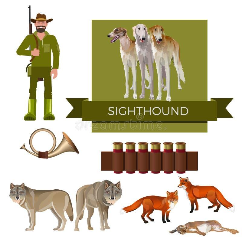 Vektor för jakthund vektor illustrationer