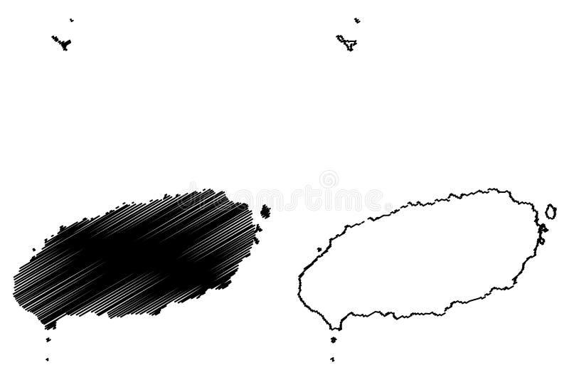 Vektor för Jeju landskapöversikt vektor illustrationer