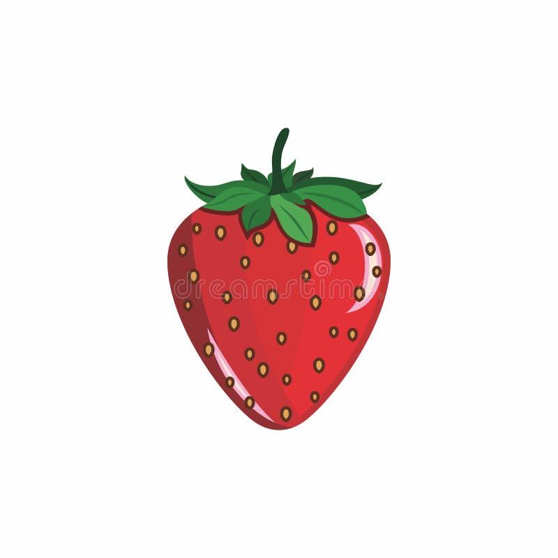 Vektor för jordgubbefrukttecknad film vektor illustrationer