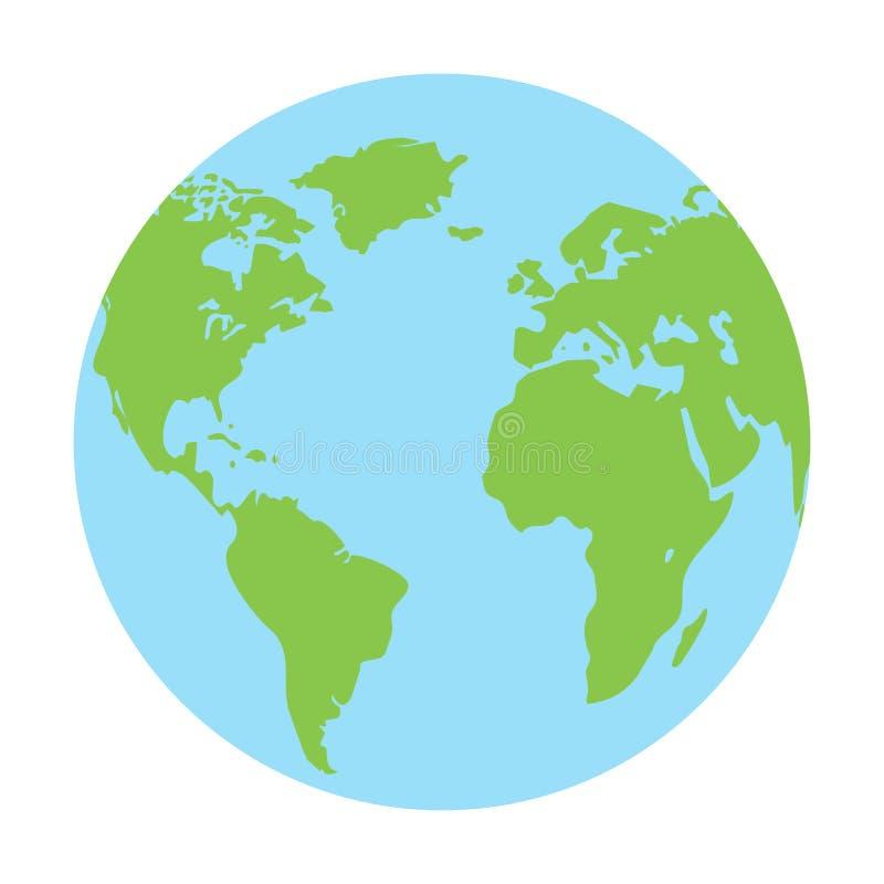 Vektor för jordklotjordsymbol vektor illustrationer
