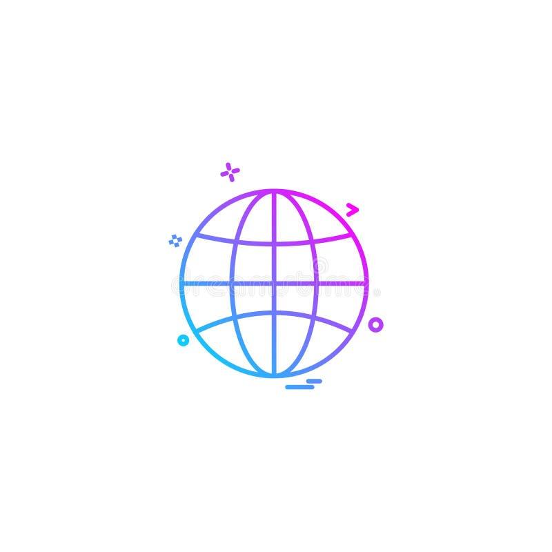 Vektor för jordklotsymbolsdesign stock illustrationer