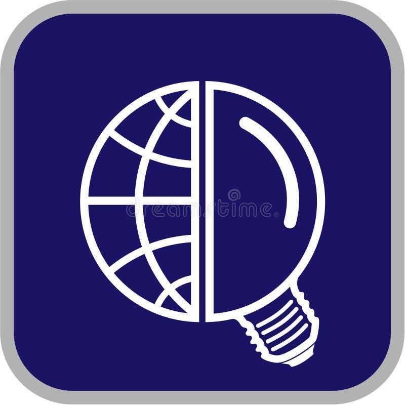 vektor för jordklotsymbolslampa stock illustrationer