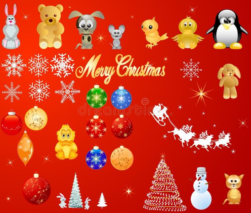 vektor för juldesignelement royaltyfri illustrationer