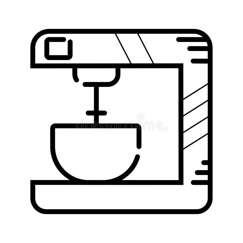 Vektor för kökblandaresymbol royaltyfri illustrationer