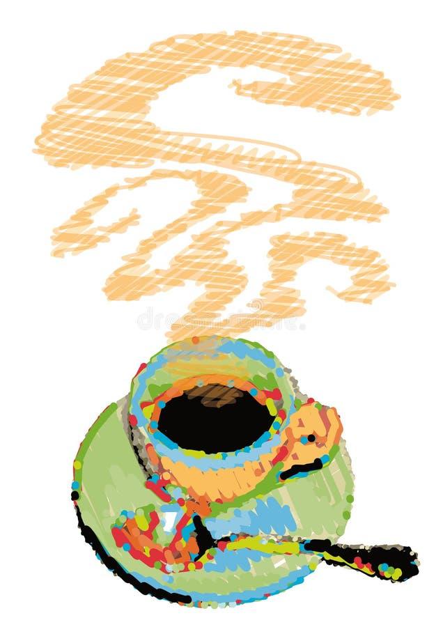 vektor för kaffekopp stock illustrationer