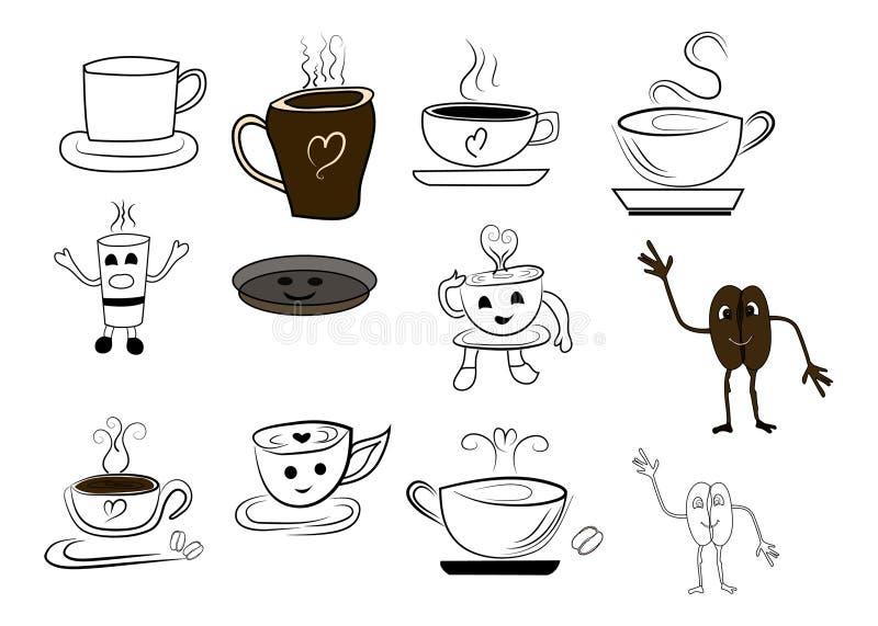 Vektor för kaffekopp arkivbild