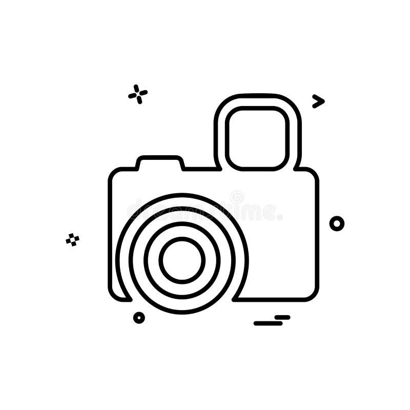 Vektor för kamerasymbolsdesign royaltyfri illustrationer