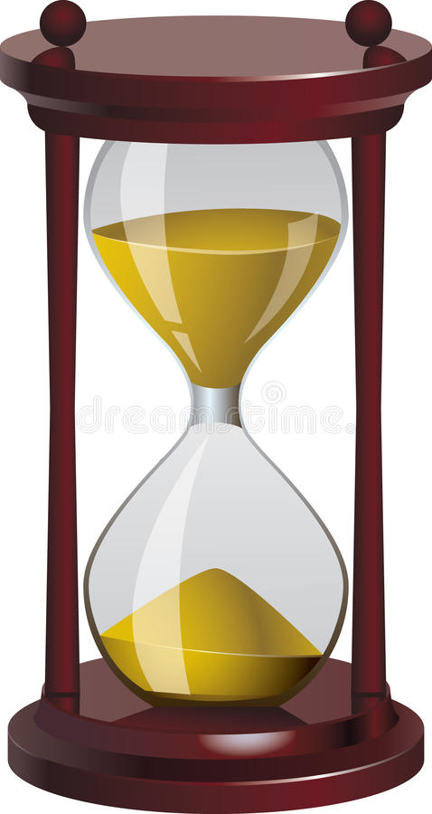 vektor för klockaillustrationsand royaltyfri illustrationer