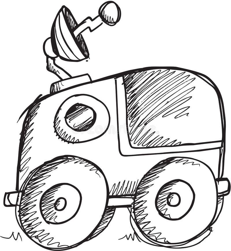 Vektor för klottermånebarnvagn stock illustrationer