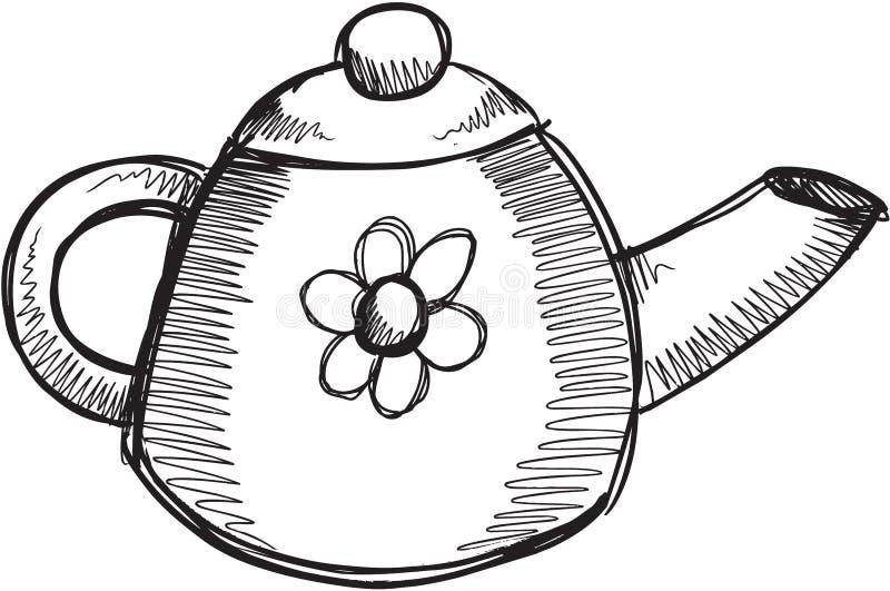 Vektor för klottertekruka royaltyfri illustrationer