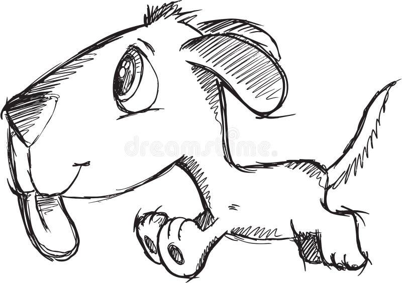 Vektor för klottervalphund stock illustrationer