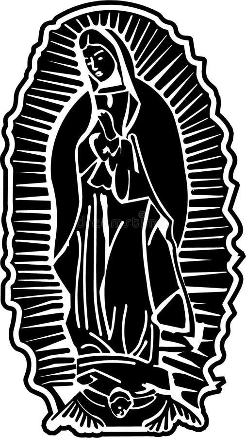 vektor för konstguadalupe lady royaltyfri illustrationer