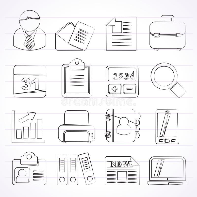 vektor för kontor för illustration för symboler för affärsdesign dig vektor illustrationer