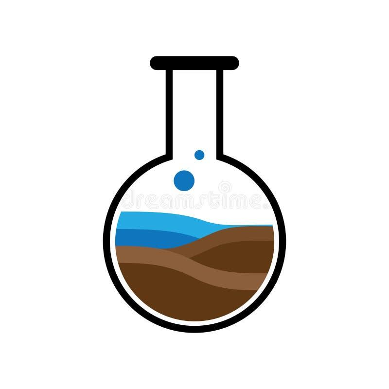 Vektor för labbnaturlogo royaltyfri illustrationer