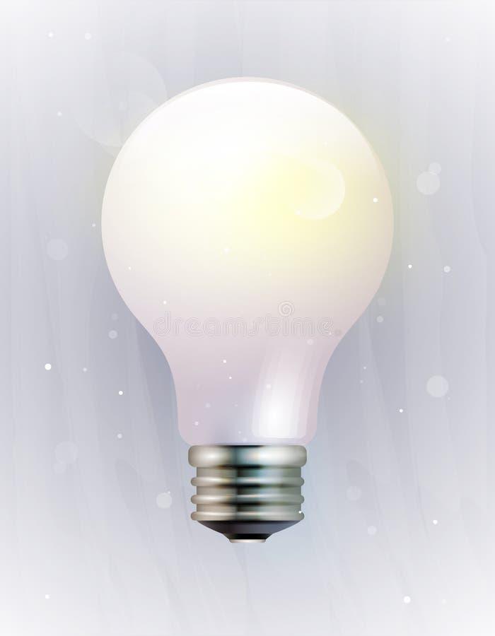 vektor för lampa för symbol eps10 för kula elektrisk stock illustrationer