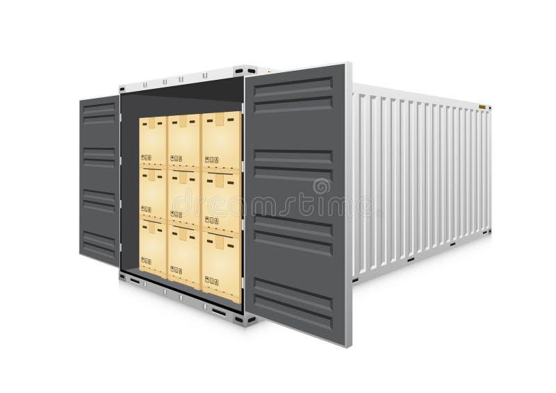 Vektor för lastbehållare vektor illustrationer