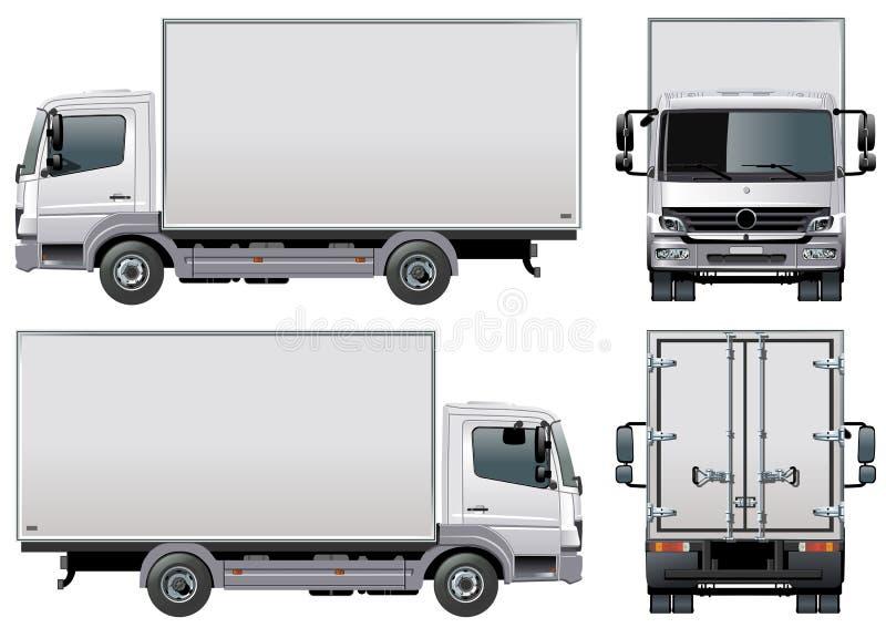 vektor för lastleveranslastbil royaltyfri illustrationer