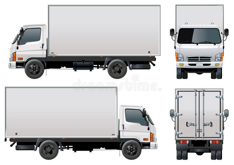 vektor för lastleveranslastbil stock illustrationer