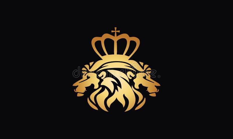 Vektor för lejonlogodesign i illustratör royaltyfri illustrationer
