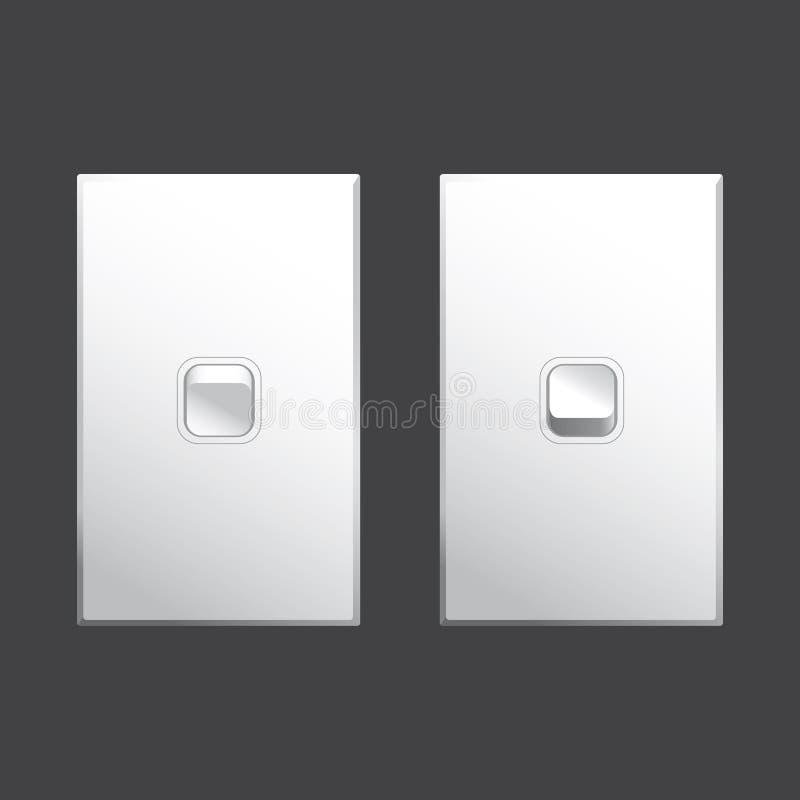 Vektor för ljus strömbrytare stock illustrationer