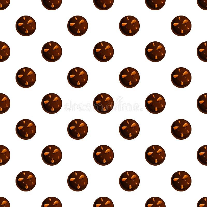 Vektor för ljusbrun modell för jordnötchoco sömlös stock illustrationer