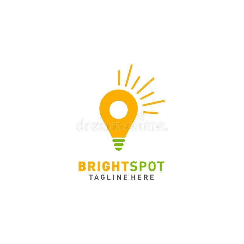 Vektor för ljuspunktlogodesign royaltyfri illustrationer