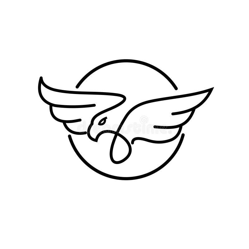Vektor för logo för översiktsörncirkel vektor illustrationer