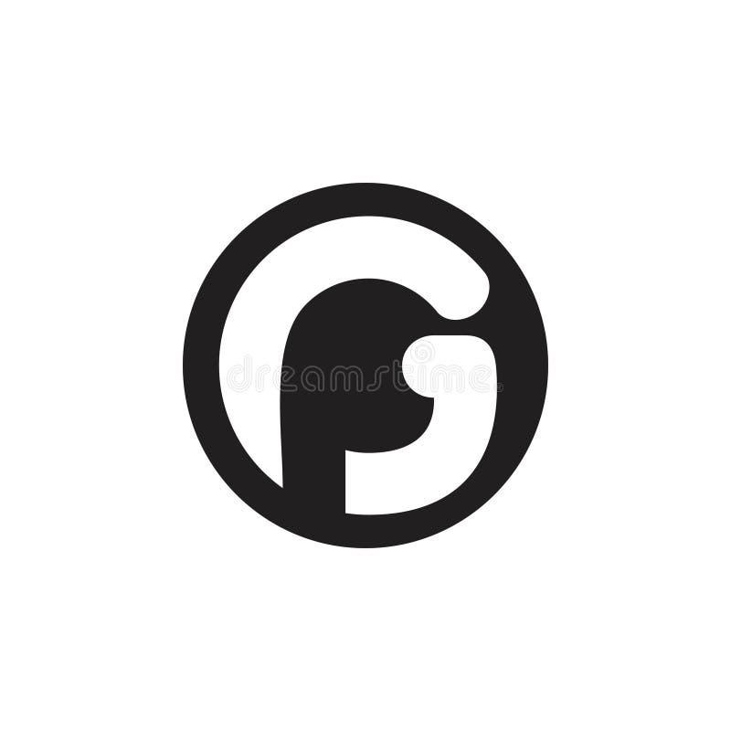 Vektor för logo för bokstavssida abstrakt stock illustrationer