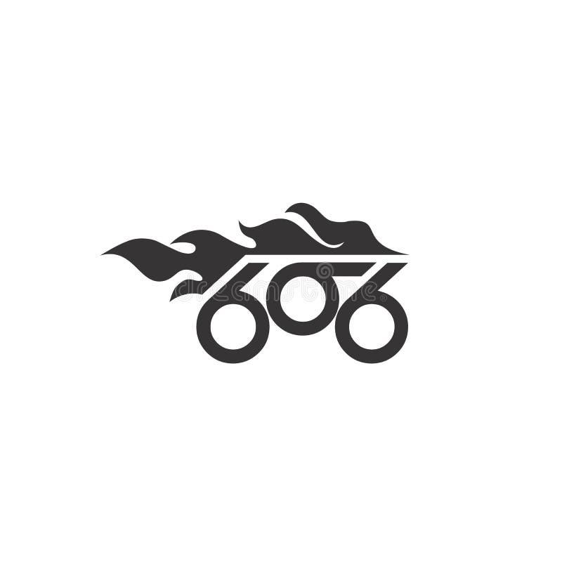 vektor för logo för cykel för 666 brand abstrakt vektor illustrationer
