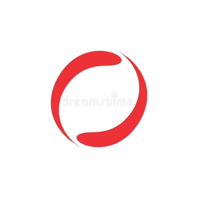 Vektor för logo för design för cirkelrörelseabstrakt begrepp royaltyfri illustrationer