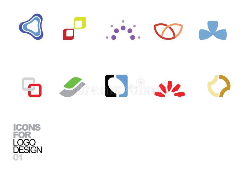 vektor för logo för 01 designelement royaltyfri illustrationer