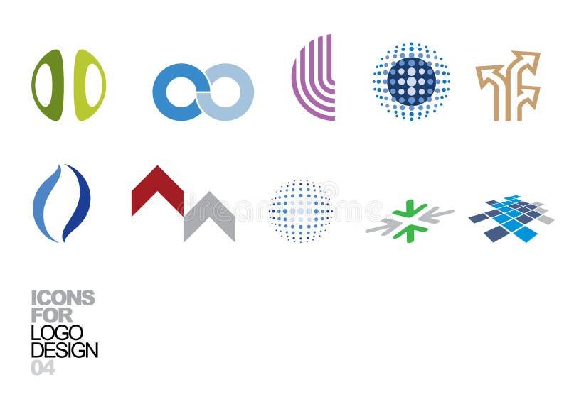 vektor för logo för 04 designelement stock illustrationer