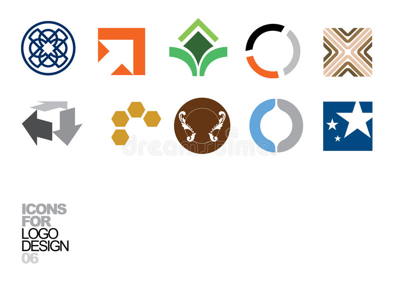 vektor för logo för 06 designelement stock illustrationer