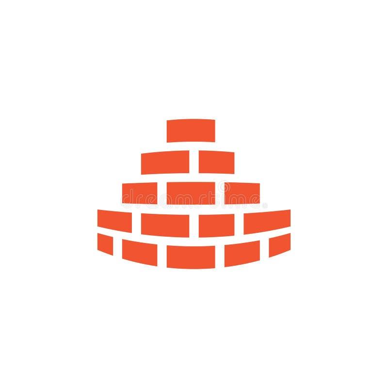 Vektor för logo för tegelstenvägg royaltyfri illustrationer