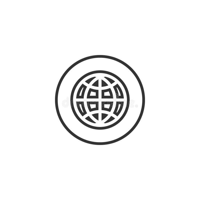 Vektor för mall för design för symbol för affärskort stock illustrationer