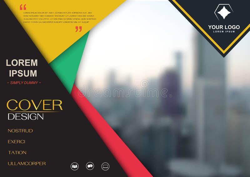 Vektor för mall för broschyrreklambladdesign, räkningspresentationsabstra vektor illustrationer