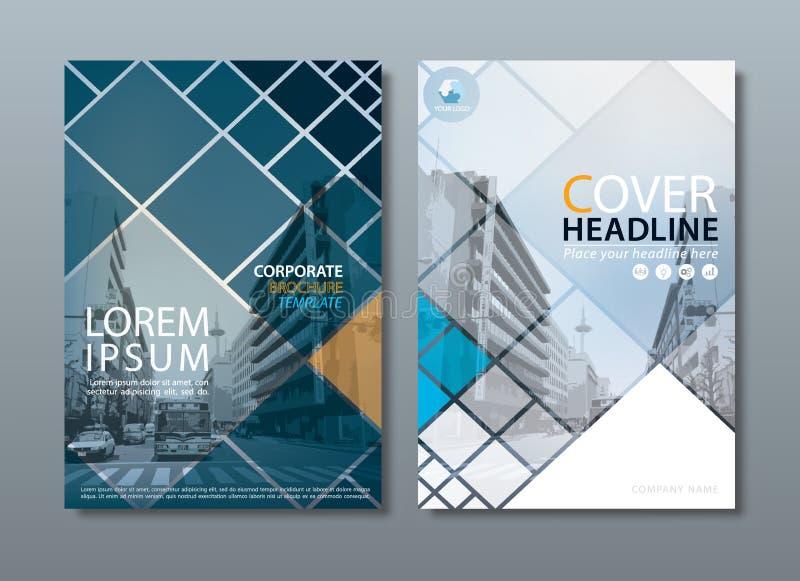 Vektor för mall för design för årsrapportbroschyrreklamblad, broschyrcov royaltyfri illustrationer