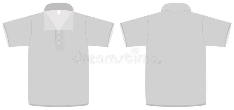 vektor för mall för illustrationpoloskjorta royaltyfri illustrationer