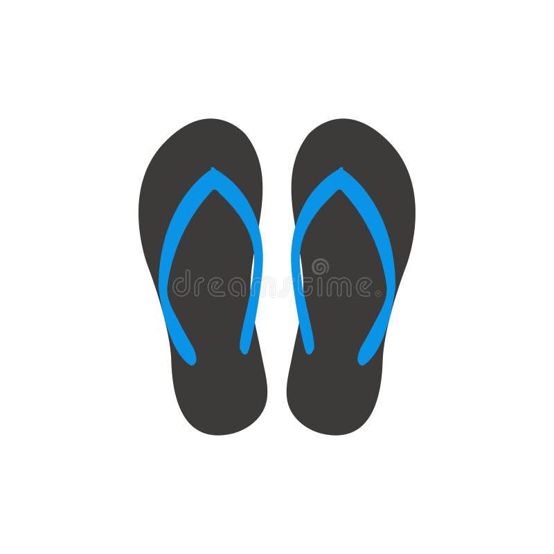 Vektor för mall för grafisk design för sandal vektor illustrationer