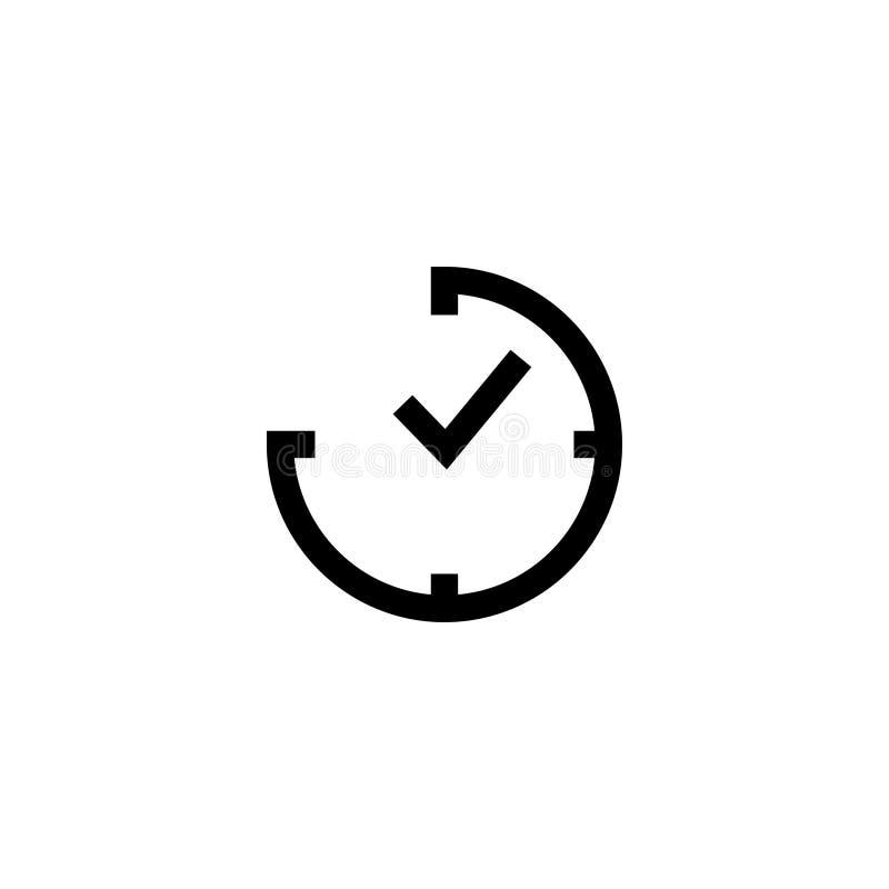 Vektor för mall för stämpelursymbolsdesign royaltyfri illustrationer