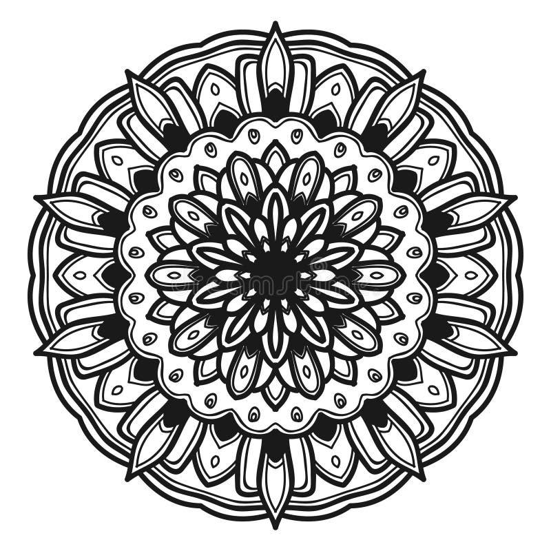 Vektor för Mandalablommaillustration arkivfoto