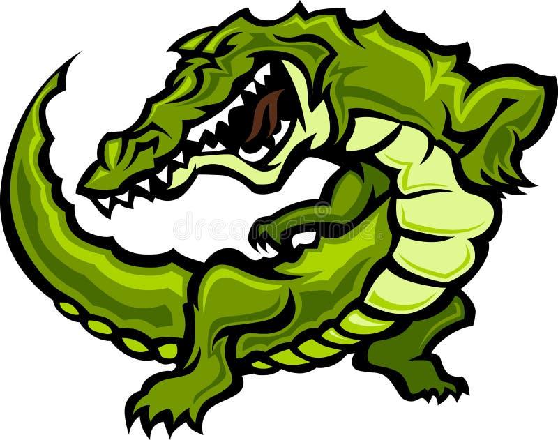 vektor för maskot för alligatorgatorillustration stock illustrationer