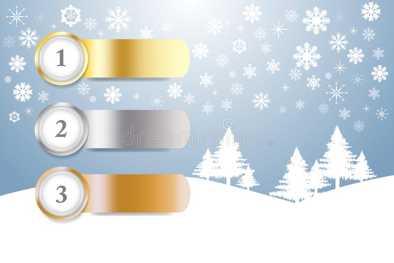 Vektor för materiel för sportrangnummer i vinterlandskap royaltyfri illustrationer