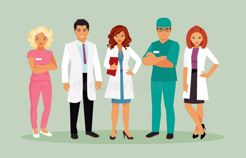 Vektor för medicinsk personal royaltyfri illustrationer